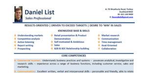 Jobseeker Daniel List